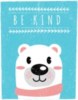 Stile di arte dell'orso in stile scandinavo - Be Kind