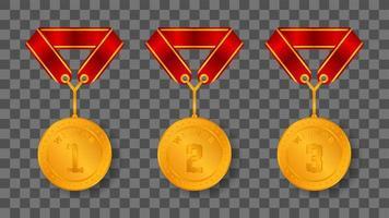 illustrazione di medaglia d'oro vettore