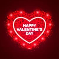 buon san valentino con razzi a forma di cuore vettore