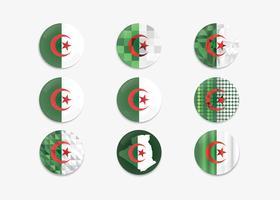 Vettore della bandierina Algeria del perno di tasto