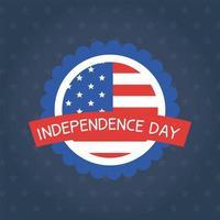 Independence Day bandiera sigillo timbro disegno vettoriale