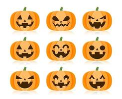 set di zucche di halloween del fumetto
