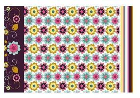 Carta da parati floreale e modello Vector Pack