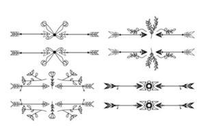 freccia divisori ornamento design su sfondo bianco