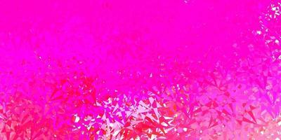 modello vettoriale rosa chiaro con forme triangolari.