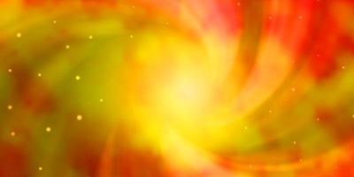 layout vettoriale arancione chiaro con stelle luminose.