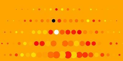 trama vettoriale arancione chiaro con cerchi.