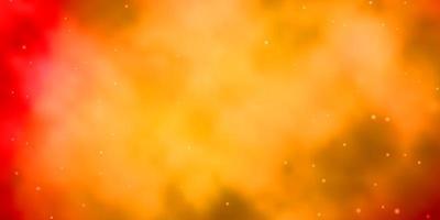 sfondo vettoriale arancione chiaro con stelle piccole e grandi.