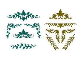 Ivison Ivy Leave Ornament Vector gratuito