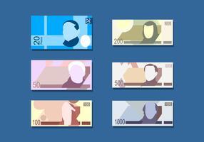 Vettore libero del denaro di carta del peso