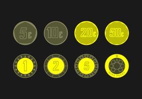 Vettore di monete di peso