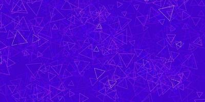 sfondo vettoriale viola scuro con triangoli.