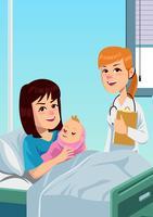 Reparto di maternità vettore