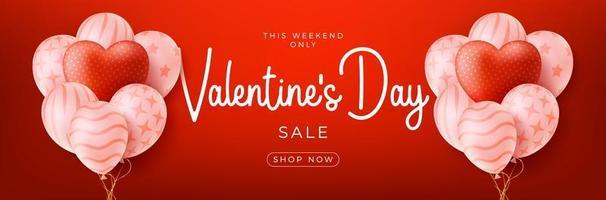 sfondo di vendita di San Valentino vettore