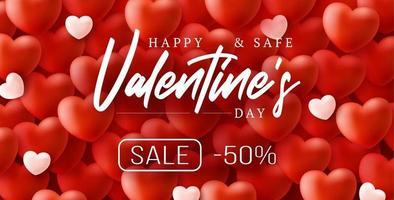 felice e sicuro sfondo di vendita di san valentino