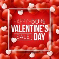 banner web promozionale per la vendita di san valentino