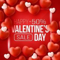 banner web promozionale per la vendita di san valentino vettore