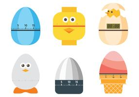 Vettore libero delle icone del temporizzatore dell'uovo