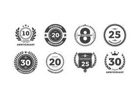 anniversario logo bw vettoriali gratis