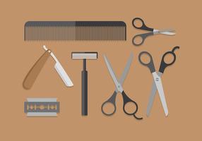 forbici barbiere vettoriali gratis