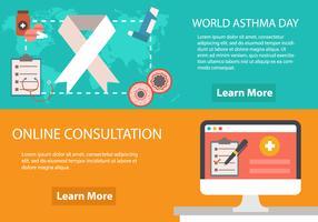 Modello di volantino per l'asma