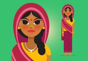 vettore donna indiana
