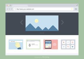 Progettazione piana di vettore della finestra del browser
