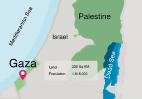 Mappa del mondo sulla striscia di Gaza vettore