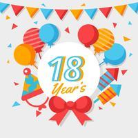 Vettore gratuito per soli 18 anni