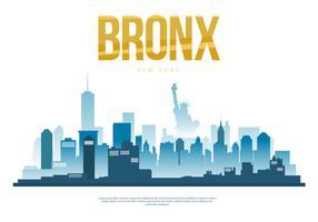Illustrazione di vettore della siluetta dell'orizzonte della città di Bronx