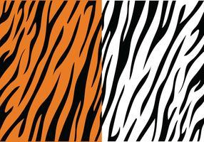 motivo a strisce di tigre vettore