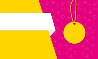 tag appeso poster di colori banner di vendita