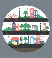 Disegno vettoriale urbano