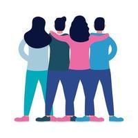 personaggi di avatar di amici interrazziali