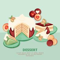 Dessert di pistacchi vettoriale