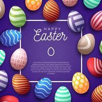 cornice felice uovo di Pasqua