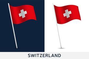 bandiera del vettore della Svizzera