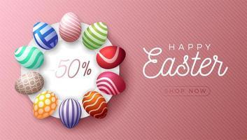 banner di vendita orizzontale uovo di Pasqua