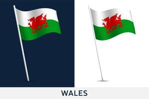bandiera del vettore del Galles