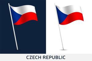 bandiera del vettore della repubblica ceca