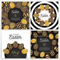 set di banner di uova di Pasqua