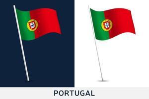 bandiera del vettore del portogallo