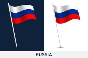bandiera del vettore della russia