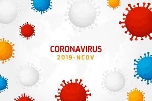 infezione da virus o sfondo di cellule batteriche