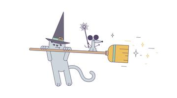 Witch's Magic Wand Vector