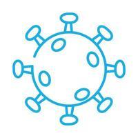 stile della linea delle particelle del virus covid19