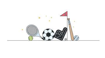 Vettore di articoli sportivi