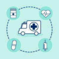 pacchetto di set di icone mediche