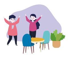 gruppo di persone insieme per celebrare un evento speciale, coppia divertente con le mani in alto che celebra