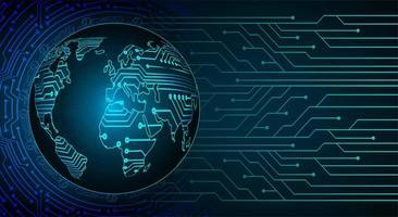 futuro e tecnologia sfondo blu ologramma con mappa del mondo